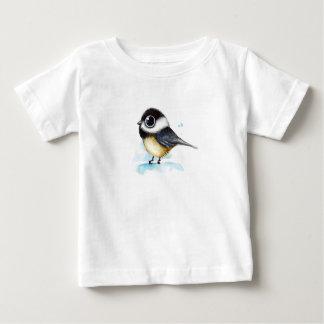 すずめの水彩画 ベビーTシャツ