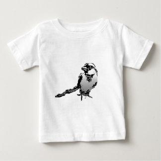 すずめの白 ベビーTシャツ