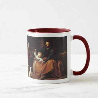 すずめを持つイエス・キリスト- Murilloは、…単語…ありました マグカップ