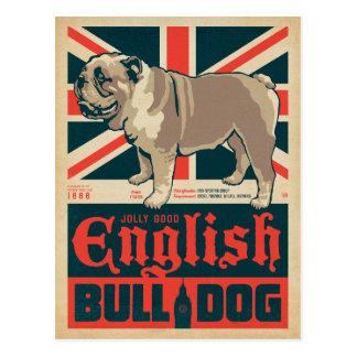 すてきでよい英国のブルドッグ ポストカード