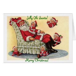 すてきなオーレサンタのクリスマスの休日の挨拶状 カード