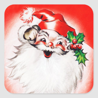 すてきなクリスマスの挨拶 スクエアシール