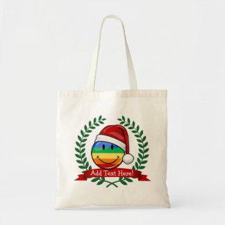 すてきなゲイプライドの旗のクリスマスのスタイル トートバッグ
