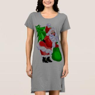 すてきなサンタおよびクリスマスツリー ドレス