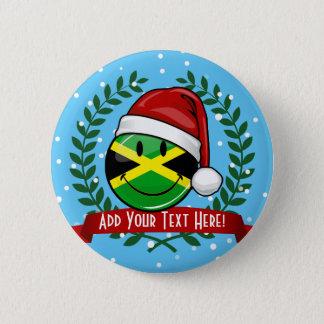 すてきなジャマイカの旗のクリスマスのスタイル 5.7CM 丸型バッジ