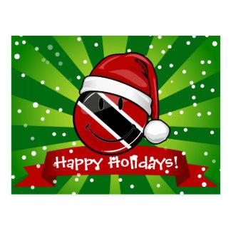 すてきなトリニダードの旗のクリスマスのスタイル ポストカード