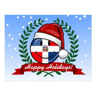 すてきなドミニカ共和国の旗のクリスマス ポストカード