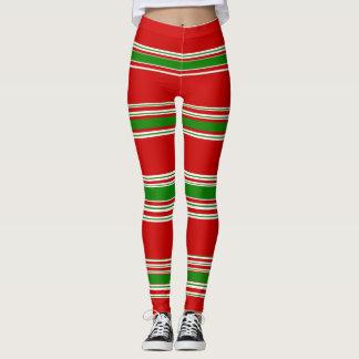 すてきなメリークリスマスの小妖精や小人の休日の赤い緑 レギンス