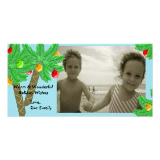 すてきなヤシの木の写真の挨拶状 カード