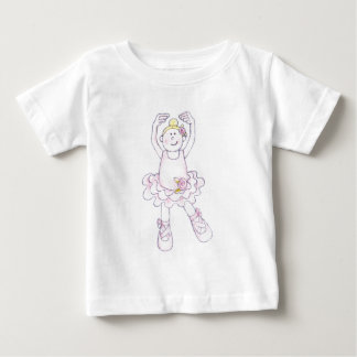 すてきな国家のバレエの女の子 ベビーTシャツ