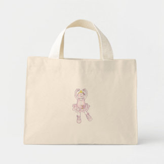 すてきな国家のバレエの女の子 ミニトートバッグ