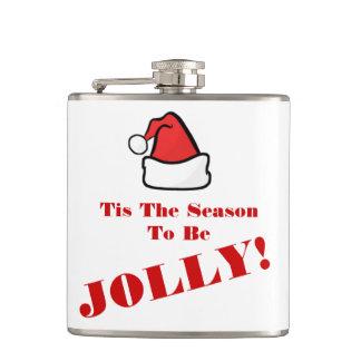 すてきな引用文があるクリスマスのサンタの帽子のTisの季節 フラスク