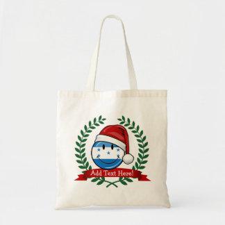 すてきな微笑のクリスマスのスタイルのホンジュラス人の旗 トートバッグ
