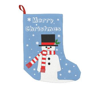すてきな紳士の雪だるまが付いているChrismasのストッキング スモールクリスマスストッキング