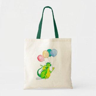 すてきな緑ドラゴンの子供のバッグ トートバッグ