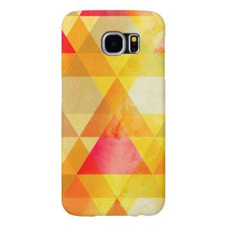 すてきな黄色及び赤い三角形の幾何学的設計 SAMSUNG GALAXY S6 ケース