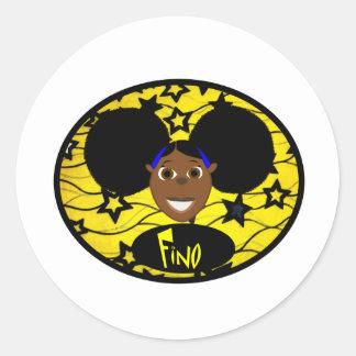 すてきなFinoのスマイルの黄色! ラウンドシール
