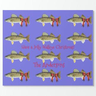 """""""すてきなWalleyeのクリスマス""""のWalleyeパイク持って下さい ラッピングペーパー"""