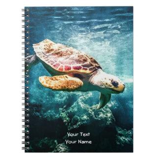 すばらしいウミガメの海の生命ターコイズの海 ノートブック