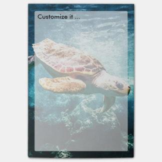 すばらしいウミガメの海の生命ターコイズの海 ポストイット