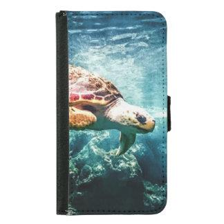 すばらしいウミガメの海の生命ターコイズの海 GALAXY S5 ウォレットケース
