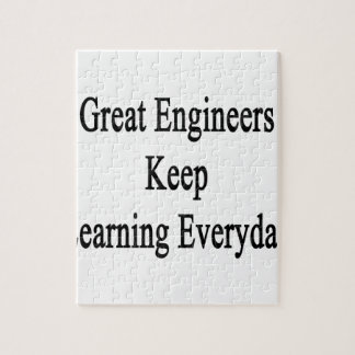 すばらしいエンジニアは学ぶことを毎日保ちます ジグソーパズル