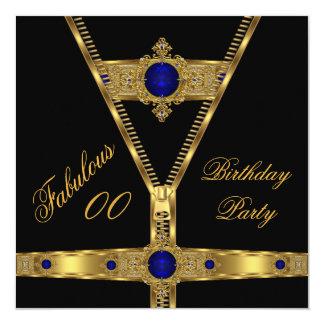 すばらしいジッパーの金ゴールドのロイヤルブルーのダイヤモンドの宝石2 カード