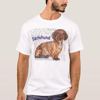 すばらしいダックスフント犬のモンタージュ Tシャツ