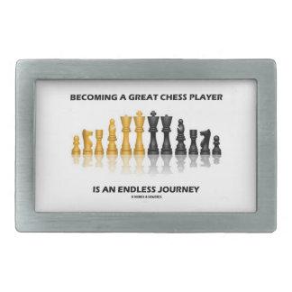 すばらしいチェスをする人に無限の旅行なります 長方形ベルトバックル