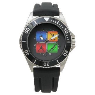 すばらしいテニスの都市スタイル(男性) 腕時計