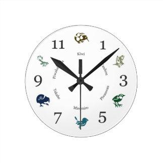 すばらしいニュージーランドの鳥の柱時計 ラウンド壁時計