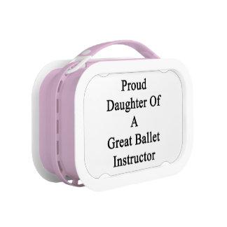 すばらしいバレエのインストラクターの誇り高い娘 ランチボックス