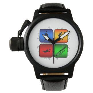 すばらしいバレーボールの都市スタイル 腕時計