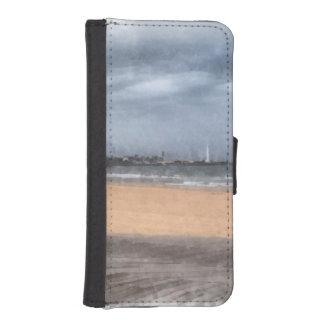 すばらしいビーチ iPhoneSE/5/5sウォレットケース