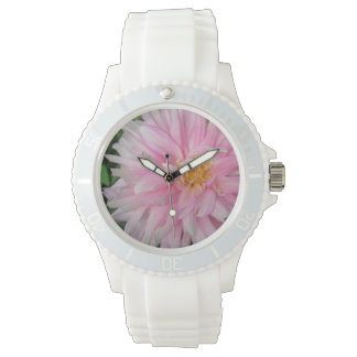 すばらしいピンクのダリアの花 腕時計