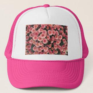 すばらしいピンクの菊の集り キャップ