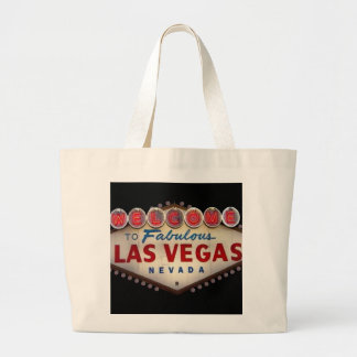 すばらしいラスベガスのクラシックなトートバックへの歓迎 ラージトートバッグ