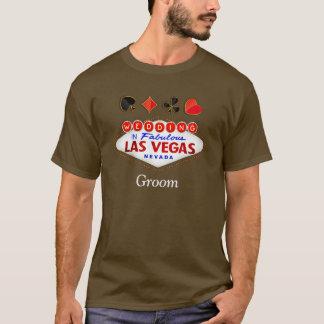 すばらしいラスベガスの新郎の花婿介添人の結婚 Tシャツ