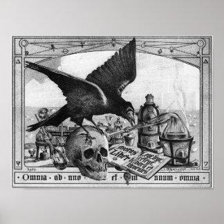 すばらしい仕事のための錬金術の実験室用具 ポスター