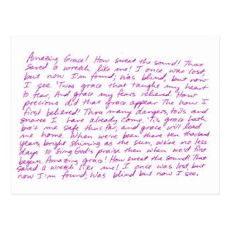 すばらしい優美の手書きの叙情詩 ポストカード