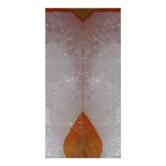 すばらしい優美: ボーダーフレームの宝石の真珠の水晶 カード