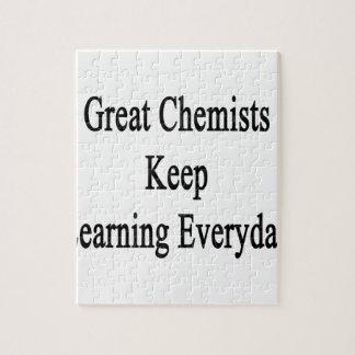 すばらしい化学者は学ぶことを毎日保ちます ジグソーパズル