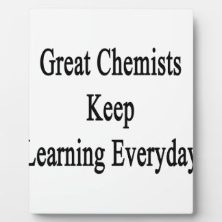 すばらしい化学者は学ぶことを毎日保ちます フォトプラーク
