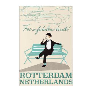 すばらしい壊れ目のため! ロッテルダムのオランダ アクリルウォールアート