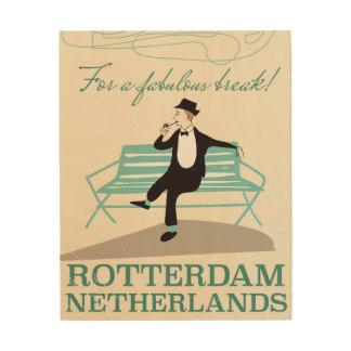 すばらしい壊れ目のため! ロッテルダムのオランダ ウッドウォールアート