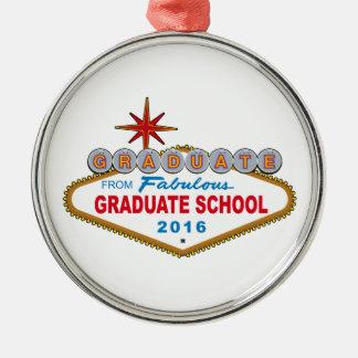 すばらしい大学院2016年(ベガスからの卒業生 シルバーカラー丸型オーナメント