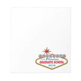 すばらしい大学院2016年(ベガスからの卒業生 ノートパッド