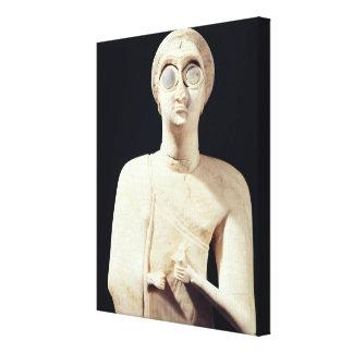 すばらしい女神の彫像は、からAsmarを告げます キャンバスプリント