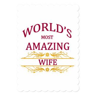 すばらしい妻 12.7 X 17.8 インビテーションカード