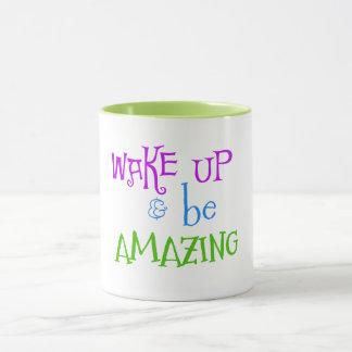 すばらしい引用文が目覚め、あって下さい マグカップ